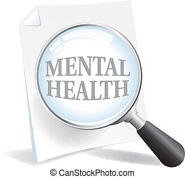 närmare, tagande, hälsa, mental, titta