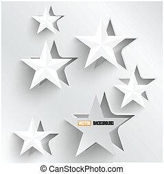 nät, abstrakt, stars., vektor, design, bakgrund