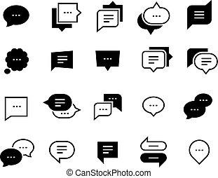 nät, balloon, dialog, pratstund, symbol., icons., symbol, ansökan, vektor, anförande, konversation, social, meddelande, bubbla, prata, ikon
