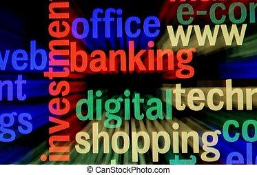 nät, bankrörelse