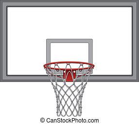 nät, basketboll, ryggstöd