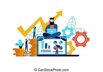 nät, begrepp, finans, affär, app, idé, dator, eller