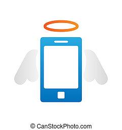nät, begrepp, konst, affärsverksamhet ikon, mobil, abstrakt, isolerat, media, skapande, bakgrund., applikationer, infographic, illustration, mall, social, origami, ringa, design, smart, ikon