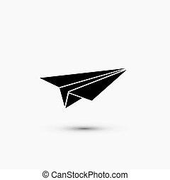 nät, eps10, bakgrund., vektor, svart, vit, ikon
