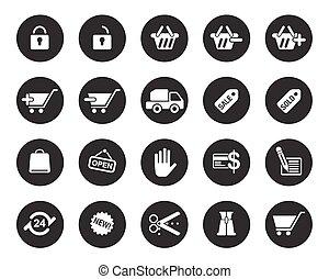 nät, grafisk, &, ämbete ikon, kontor, printingweb, nät, vektor, blog