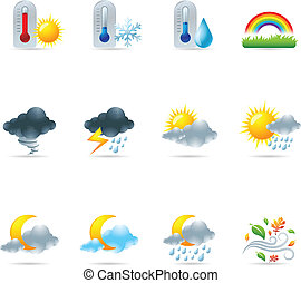 nät ikon, -, mer, väder