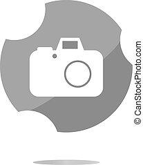 nät, isolerat, kamera, bakgrund, vit, ikon