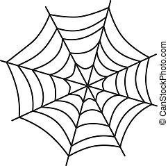 nät, konst, spindel