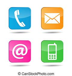 nät, kontakt oss, ikonen