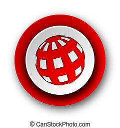 nät, mull, bakgrund, nymodig, ikon, röda vita
