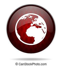 nät, mull, glatt, bakgrund, ikon, röda vita