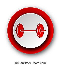 nät, nymodig, bakgrund, fitness, vit röd, ikon