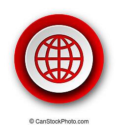 nät, nymodig, bakgrund, mull, vit röd, ikon