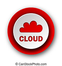 nät, nymodig, röd fond, vita sky, ikon