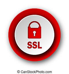 nät, nymodig, ssl, bakgrund, vit röd, ikon