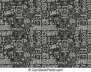 nät, seamless, mönster