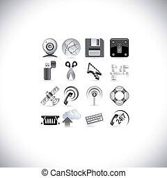 nät, signal, ikonen