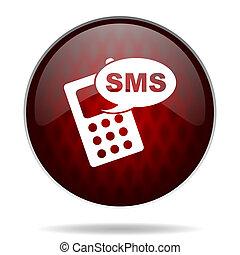 nät, sms, glatt, bakgrund, ikon, röda vita