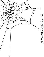 nät, spindlar