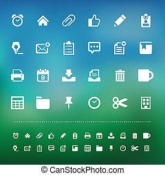 näthinna, kontor, redskapen, sätta, ikon