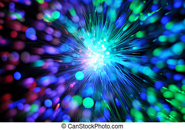 nätverk, fiber, optisk, kabel