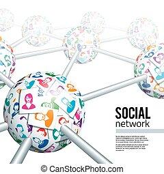 nätverk, social