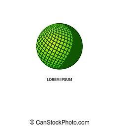 nätverksarbetande, glob, grön, ikon
