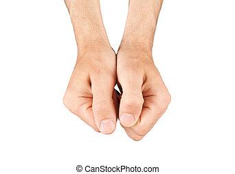näve, hand, isolerat