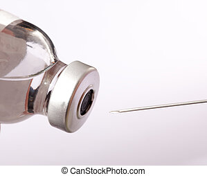 nål, og, vial