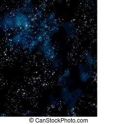 nébuleuse, extérieur, étoiles, espace