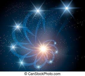 nébuleuse, fond, galaxie