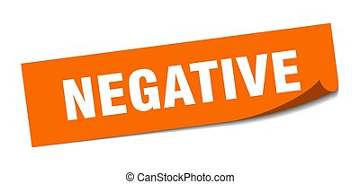 négatif, negative., éplucheur, signe., sticker., carrée