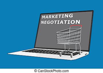 négociation, commercialisation, concept