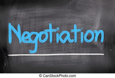 négociation, concept