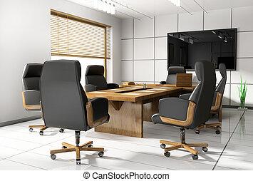négociation, salle, bureau