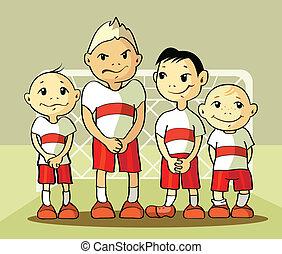 négy, futball játékos