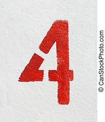 négy, szám