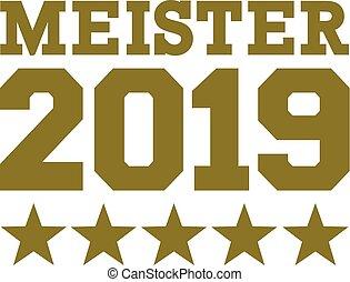 német, 2019, bajnok, csillaggal díszít