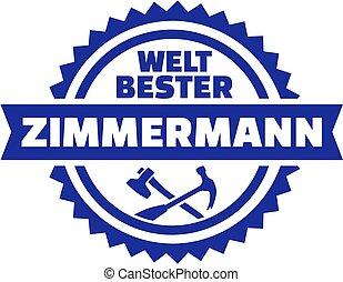 német, embléma, világ, legjobb, ács