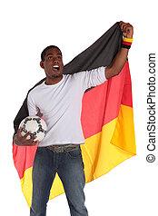 német, futball, támaszték