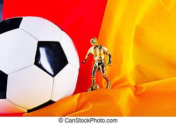 német lobogó, és, focilabda