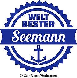 német, tengerész, embléma, világ, legjobb