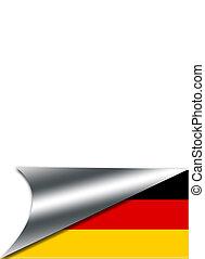 németország, flag.