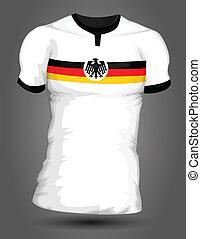 németország, futball, mez
