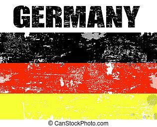 németország, grunge, lobogó