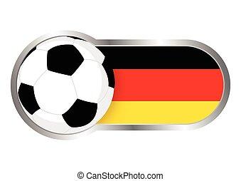 németország, jelvény, futballcsapat