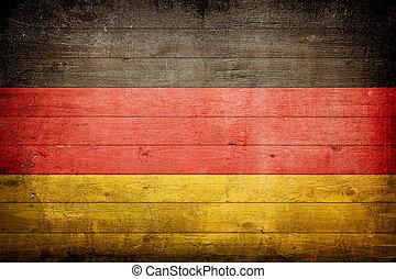 németország, nemzeti lobogó
