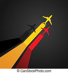 németország, repülőgép, vektor