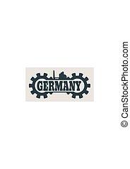 németország, szó, épít, bekapcsol