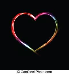 néon, coração